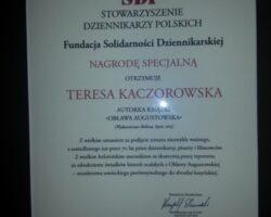 """Specjalny """"polski Pulitzer"""" dla Teresy Kaczorowskiej (2/5)"""